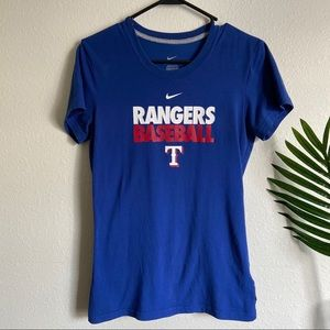Nike Blue Rangers baseball dri fit tee